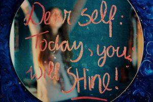 schrijf op spiegel