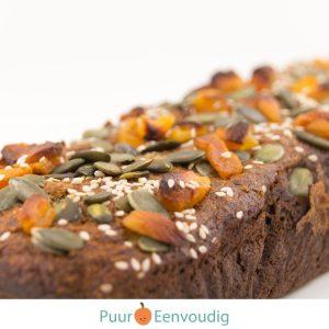 bananenbrood met abrikoosbananenbrood met abrikoos - gezonde voeding en geluk